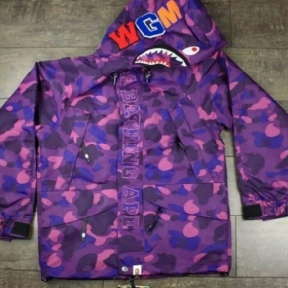 e06954df8c6e Bape purple windbreaker